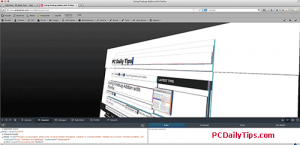 3D feature Firefox's web developer tool