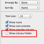 Show Library Folder in Mavericks Mac OS X