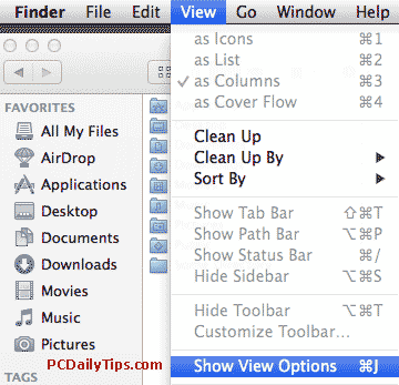 View - Show View Options