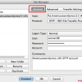 General setting SFTP FileZilla