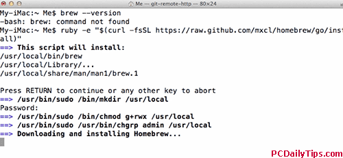 install homebrew on Mavericks Mac