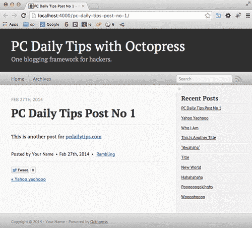 Install Octopress on Mac Mavericks OSX