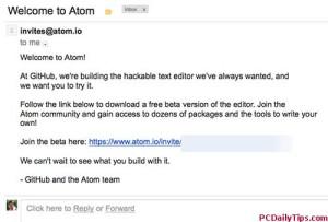 Atom text editor invite