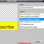How to create PNG Watermark with Pixlr