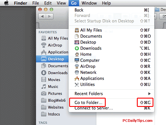Finder Go To Folder on the menu and shortcut keys