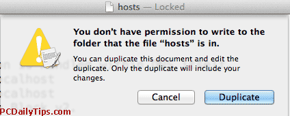 "ou don't have permission to write to the folder that the file ""hosts"" is in"
