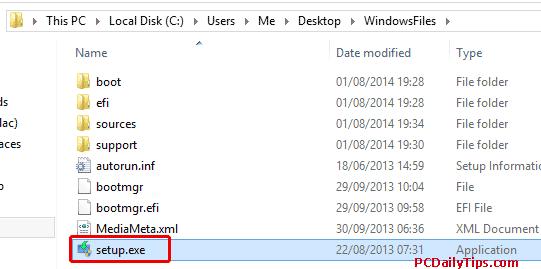 Setup exe file