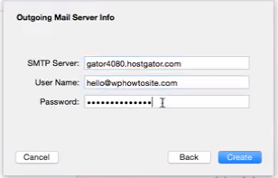 Outgoing Mail Server Info to setup custom email