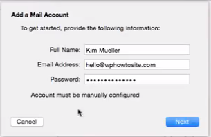 Setup email address with your domain name