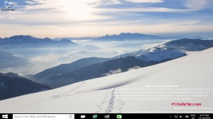 Windows 10 9901 Technical Preview