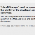 Can't be opened because the identity of the developer cannot be confirmed