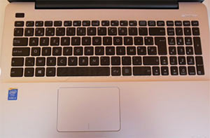 ASUS F555LA-AB31 keyboard with chiclet style
