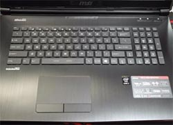 MSI GE72 trackpad