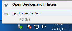 """Right click on the icon, right bottom corner, and select """"Eject"""" when it is visible."""