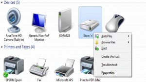 How to safely remove hardware in Windows7