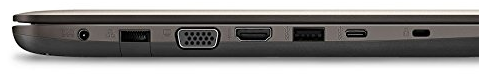 ASUS F556UA ports include a USB-C port