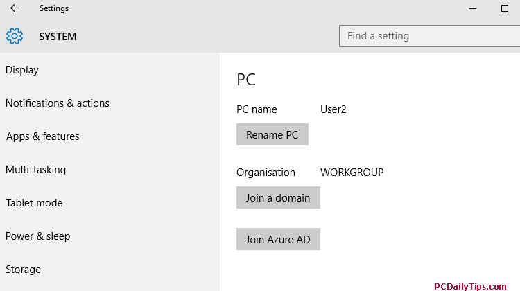 Steps to Change Full Computer Name on Windows 10