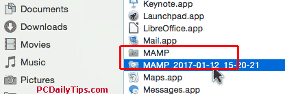 The new MAMP has no numbers