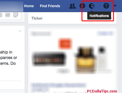 The Notifications of Like or Unlike on Facebook on Desktop view